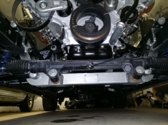 rack and pinion in place