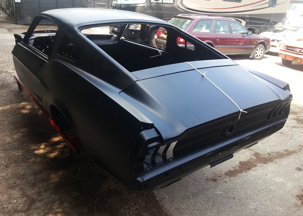 new 67 fastback body shell mustang maniac. Black Bedroom Furniture Sets. Home Design Ideas