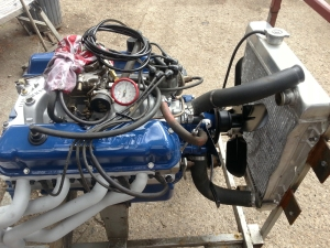 engine from the stand to the test rig