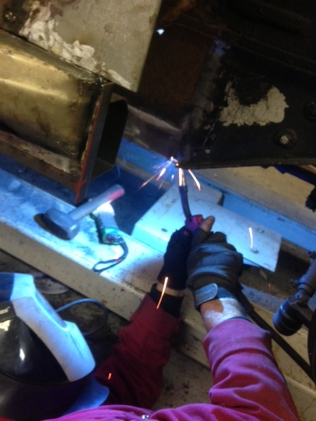 Welding in progress