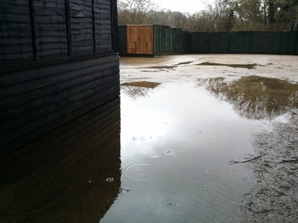 a little lake round the other side of the yard