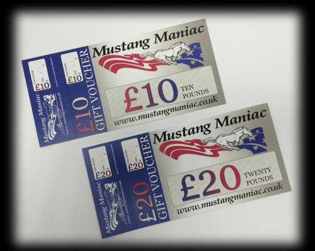 Mustang Maniac Gift Vouchers