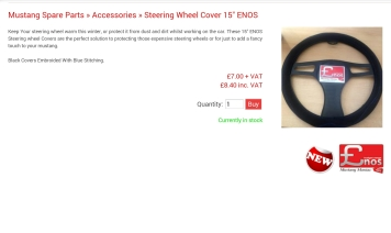 "Enos 15"" Steering Wheel cover"