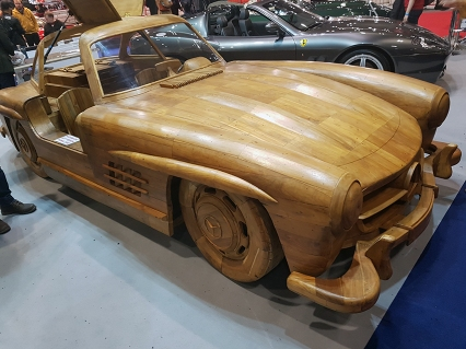 Mercedes made of wood