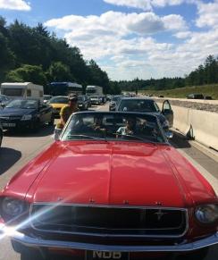 German traffic jam hot transmission